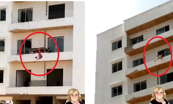 Video: Cité Keur Gorgui, Un homme chute du 5e étage