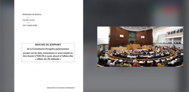 [Document] Affaire 94 milliards : Voici le résumé du rapport de la commission d'enquête parlementaire