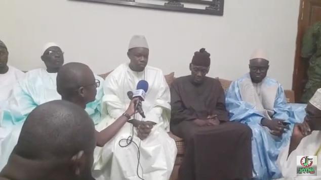 Gamou 2109-Ziaar de Sonko à Serigne Mbaye Sy Abdou
