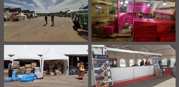 FIDAK 2019 : L'installation des stands à la traine