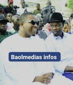 photo de bougane gueye dani et ousmane sonko entrani de discuter