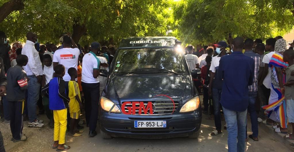 Décès de Pape Bouba Diop : Arrivée du corbillard pour la prière mortuaire