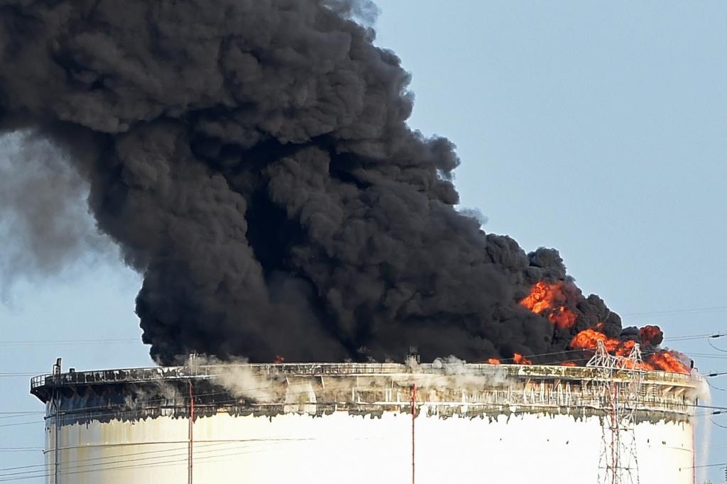 Urgent: L'Usine de Gaz de Forteza, à Gadiaga, en feu!