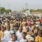 le Président Macky SALL  accueilli à Ourossogui par une foule immense
