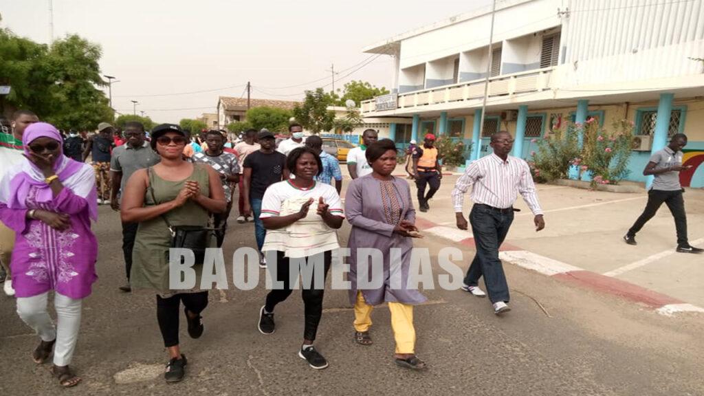 Diourbel :Ndongo Diop et ses confrères Marche pour la libération des détenus politiques